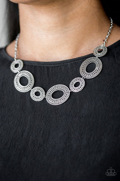 Paparazzi Basically Baltic - Silver Necklace - A Finishing Touch Jewelry