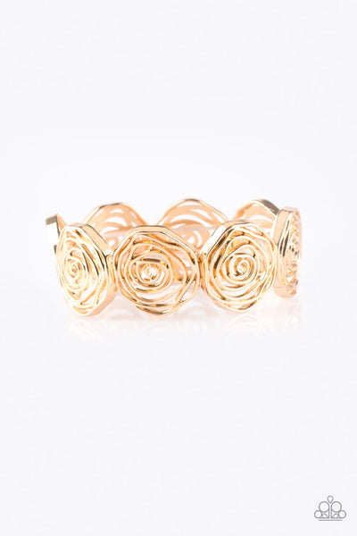 Paparazzi Beat Around The ROSEBUSH - Gold Bracelet