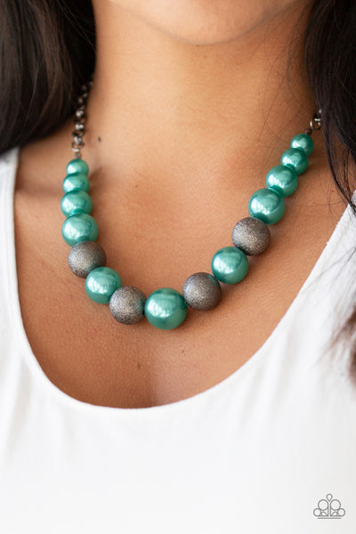 Paparazzi Color Me CEO - Green Necklace - A Finishing Touch