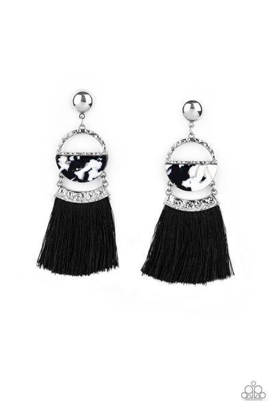 Paparazzi Tassel Trot - Black - A Finishing Touch