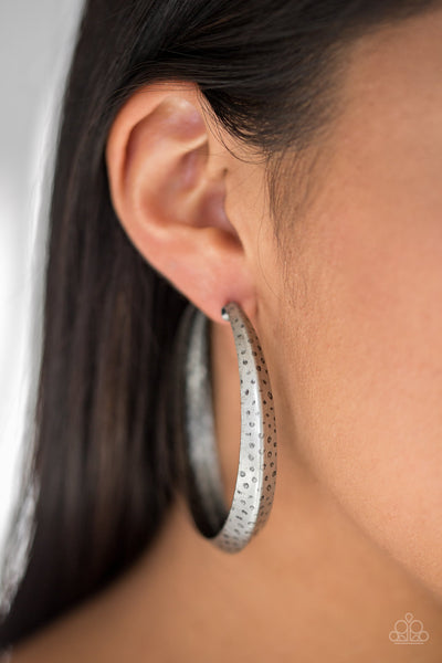 Paparazzi Jungle To Jungle - Silver Hoop Earrings - A Finishing Touch