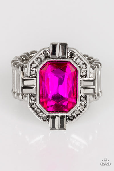 Paparazzi Outta My Way! - Pink Gem Ring