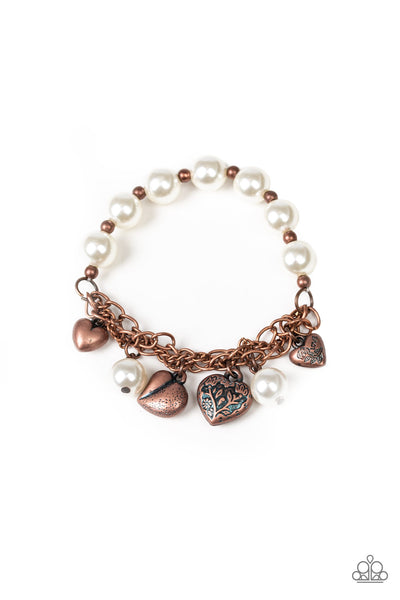 Paparazzi More Amour - Copper Bracelet - A Finishing Touch