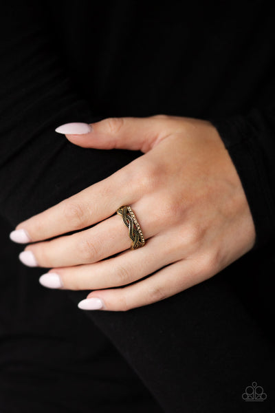 Paparazzi Unstoppable Shine - Brass Ring - A Finishing Touch