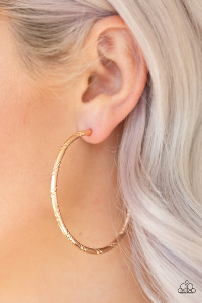 Paparazzi A Double Take - Gold Hoop Earrings - A Finishing Touch