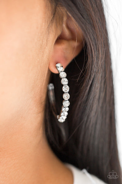 Paparazzi My Kind Of Shine - Black Earrings - A Finishing Touch
