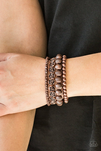 Paparazzi Rose Garden Gala - Copper Bracelet - A Finishing Touch