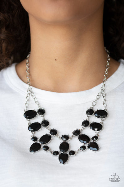 Paparazzi Goddess Glow - Black Teardrop Necklace