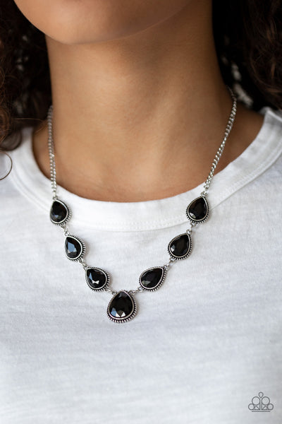 Paparazzi Socialite Social - Black Necklace - A Finishing Touch
