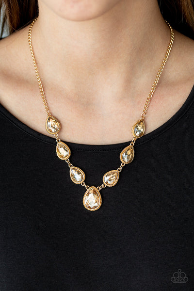 Paparazzi Socialite Social - Gold Necklace - A Finishing Touch