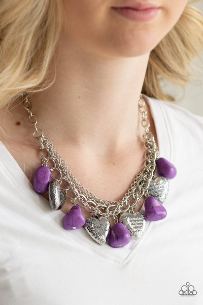 Paparazzi Change Of Heart - Purple Necklace - A Finishing Touch