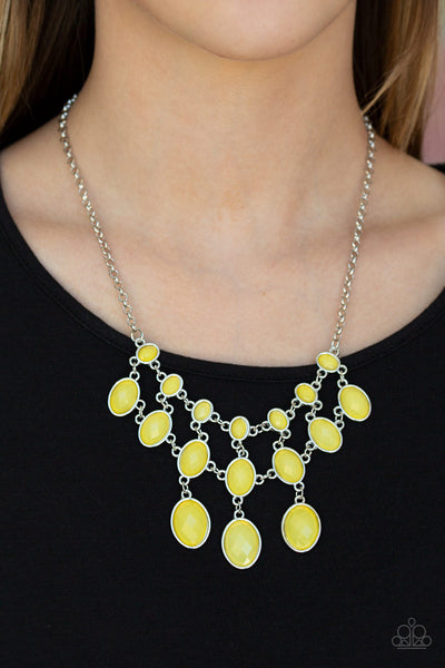 Paparazzi Mermaid Marmalade - Yellow Necklace - A Finishing Touch