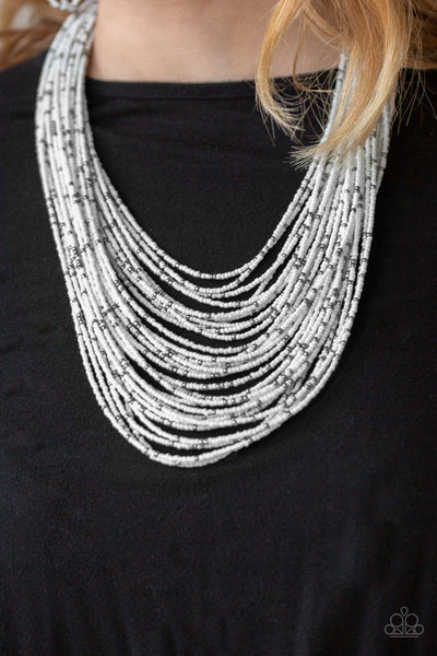 Paparazzi Rio Rainforest - White Seed Bead Necklace - A Finishing Touch