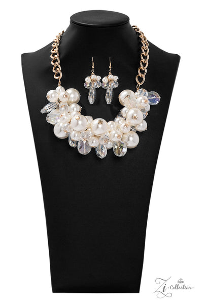 Paparazzi Captivate 2019 Zi Collection White Necklace - A Finishing Touch