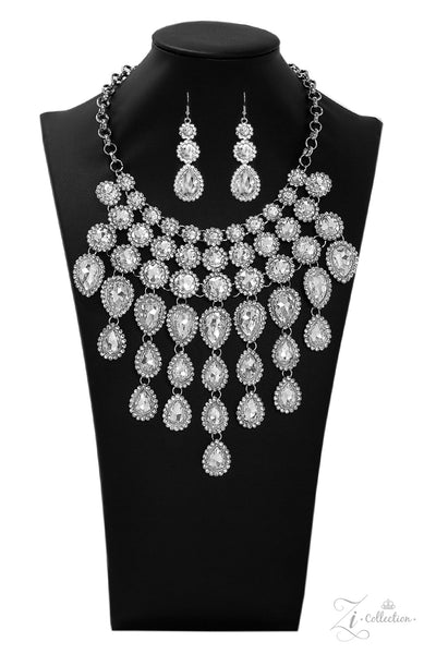 Paparazzi Mesmerize 2019 Zi Collection White Necklace - A Finishing Touch