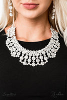 Paparazzi The Heather - 2019 Zi Collection White Necklace - A Finishing Touch