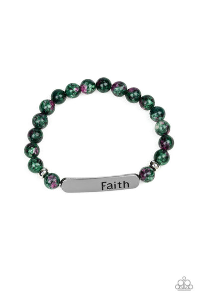 Paparazzi Faith In All Things - Green - A Finishing Touch
