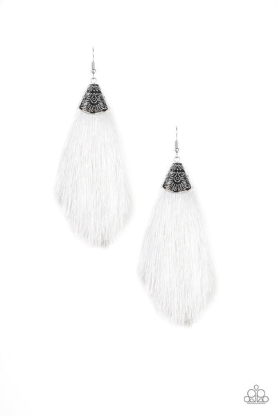 Paparazzi Tassel Temptress - White - A Finishing Touch