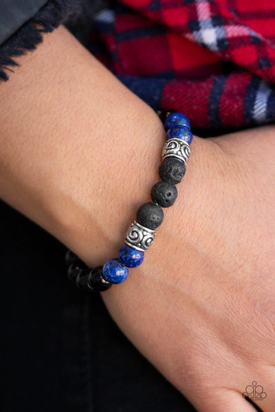 Paparazzi Proverb - Blue Bracelet - A Finishing Touch Jewelry