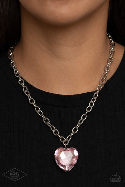 Paparazzi Flirtatiously Flashy - Pink Necklace - A Finishing Touch Jewelry
