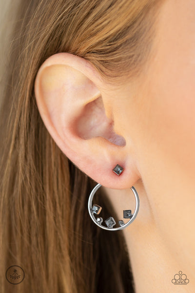 Paparazzi Top-Notch Twinkle - Silver Earrings - A Finishing Touch