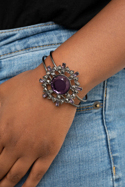 Paparazzi Elaborate Elegance - Purple Bracelet - A Finishing Touch Jewelry