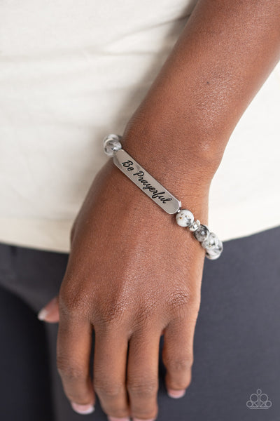 Paparazzi Be Prayerful - Black Bracelet - A Finishing Touch