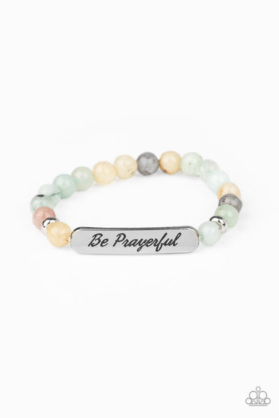 Paparazzi Be Prayerful - Green Inspirational Bracelet