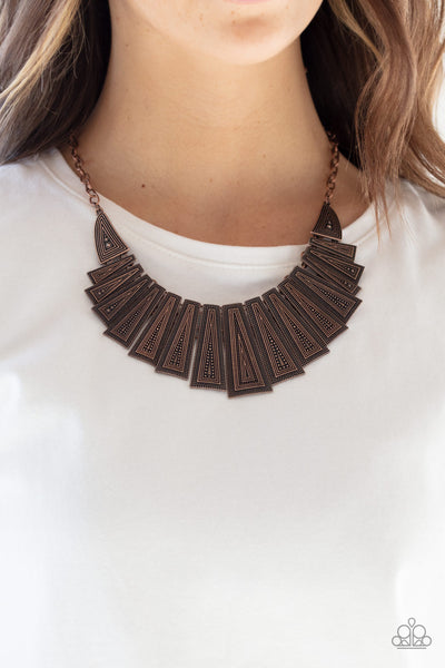 Paparazzi Metro Mane - Copper Necklace - A Finishing Touch