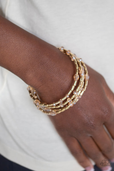 Paparazzi Regal Remix - Gold Bracelet - A Finishing Touch