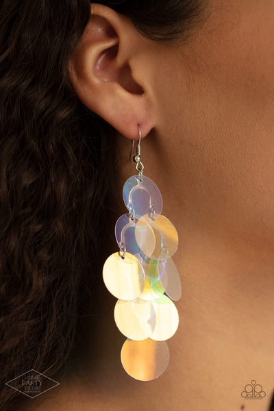 Paparazzi Mermaid Shimmer - Multi Iridescent Earrings - A Finishing Touch