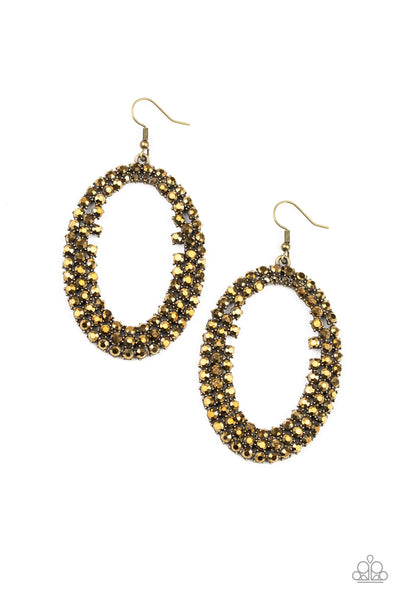 Paparazzi Radical Razzle - Brass Earrings - A Finishing Touch