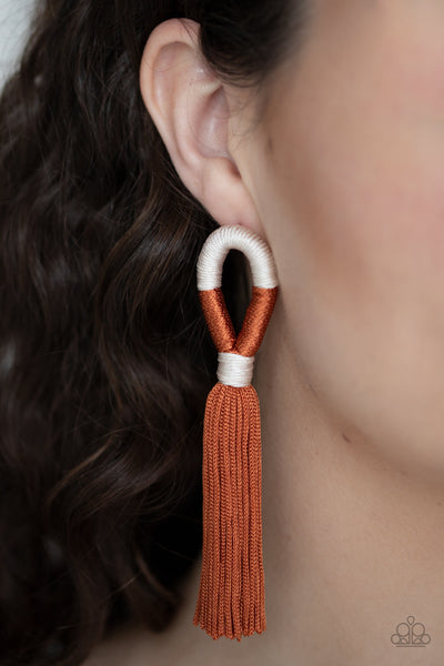Paparazzi Moroccan Mambo - Multi Tassel Earrings - A Finishing Touch