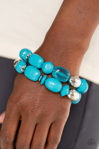 Paparazzi Fruity Flavor - Blue Bead Bracelets