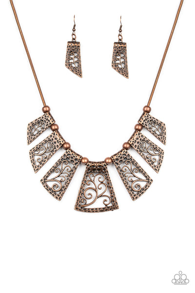 Paparazzi Vintage Vineyard - Copper Necklace - A Finishing Touch