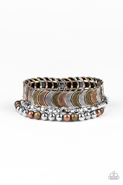 Paparazzi LAYER It On Me - Multi Bracelet - A Finishing Touch
