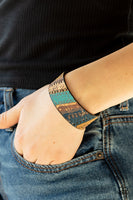 Paparazzi Come Uncorked - Blue Tribal Bracelet - A Finishing Touch