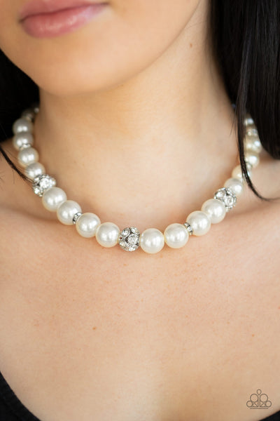 Paparazzi Rich Girl Refinement - White Pearl Necklace - A Finishing Touch
