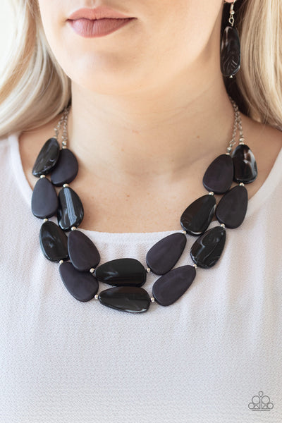 Paparazzi Colorfully Calming - Black Necklace - A Finishing Touch