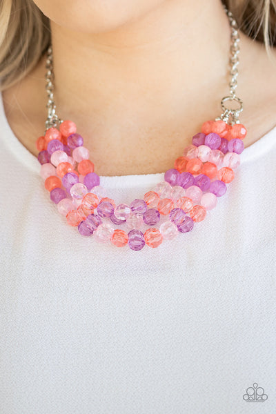 Paparazzi Summer Ice - Multi Crystal-Like Necklace - A Finishing Touch