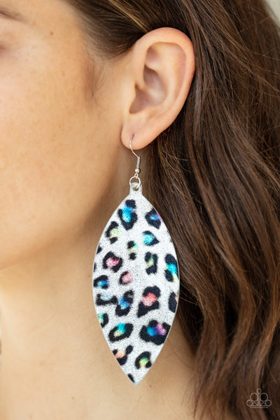 Paparazzi Once a CHEETAH, Always a CHEETAH - Multi Leather Earrings - A Finishing Touch