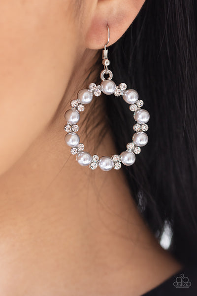 Paparazzi Symphony Sparkle - Silver Earrings - A Finishing Touch