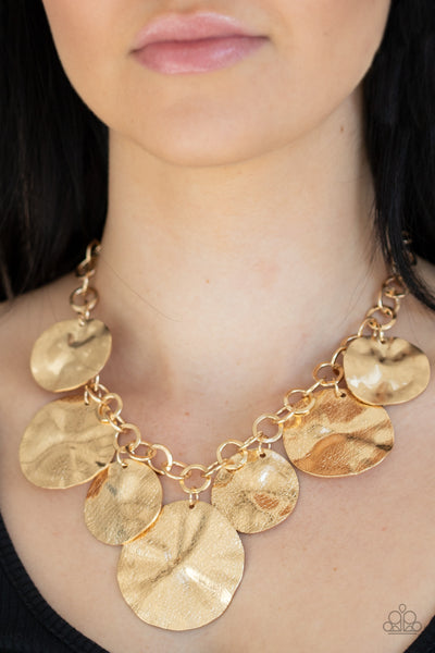 Paparazzi Barely Scratched The Surface - Gold Necklace - A Finishing Touch