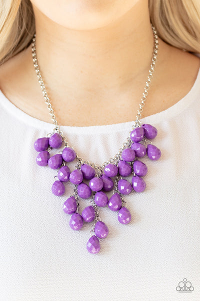 Paparazzi Serenely Scattered - Purple Necklace - A Finishing Touch