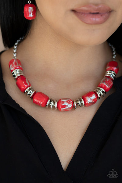 Paparazzi Girl Grit - Red Necklace