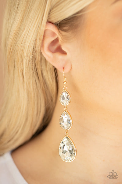 Paparazzi Metro Momentum - Gold Teardrop Earrings