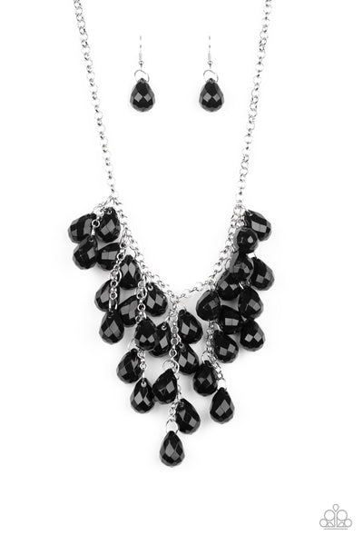 Paparazzi Serenely Scattered - Black Necklace - A Finishing Touch