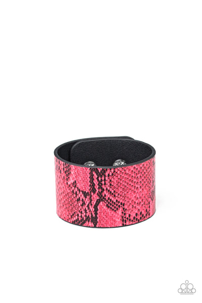 Paparazzi Its a Jungle Out There - Pink Neon Bracelet - A Finishing Touch