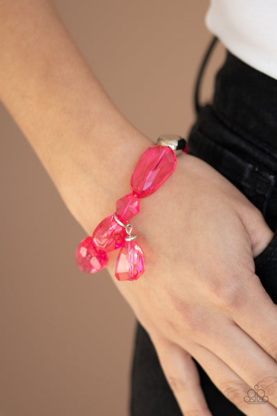 Paparazzi Gemstone Glamour - Pink Bead Bracelets - A Finishing Touch
