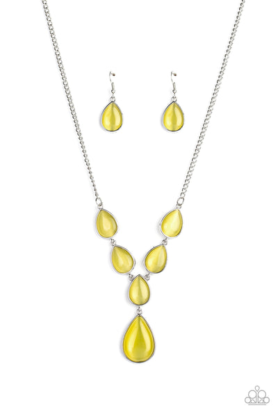 Paparazzi Dewy Decadence - Yellow Necklace - A Finishing Touch